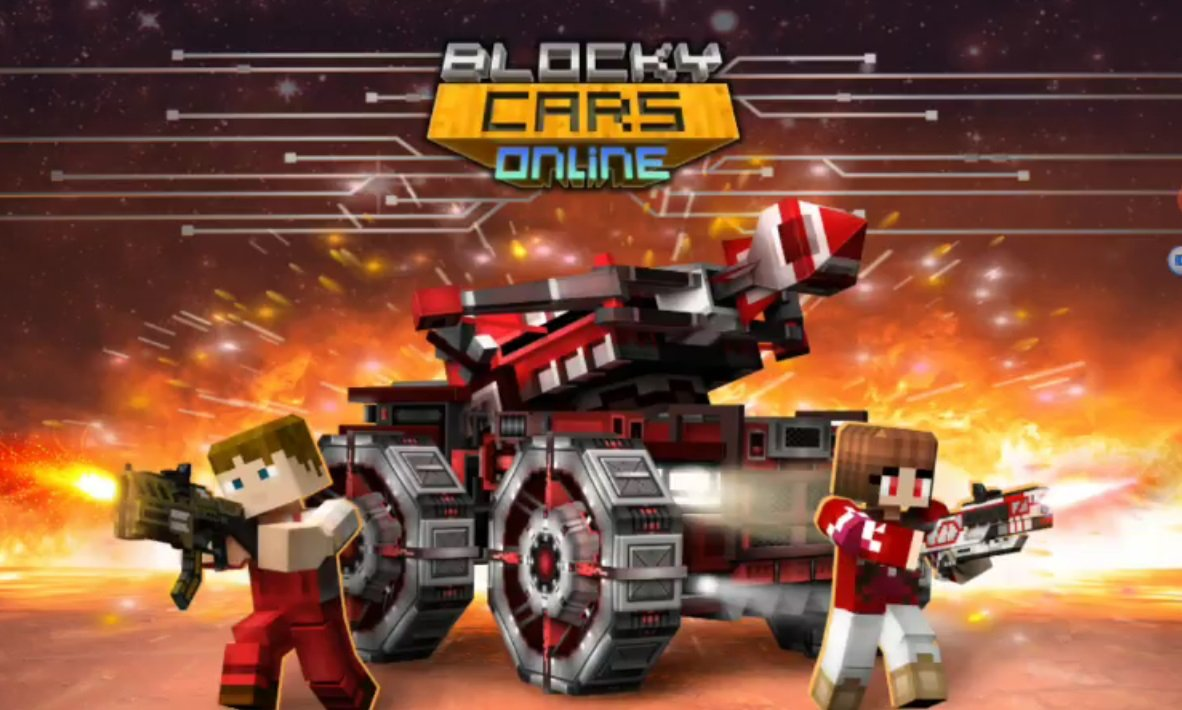 Download Blocky Cars Online hacked (Mod: a lot of money) v 7